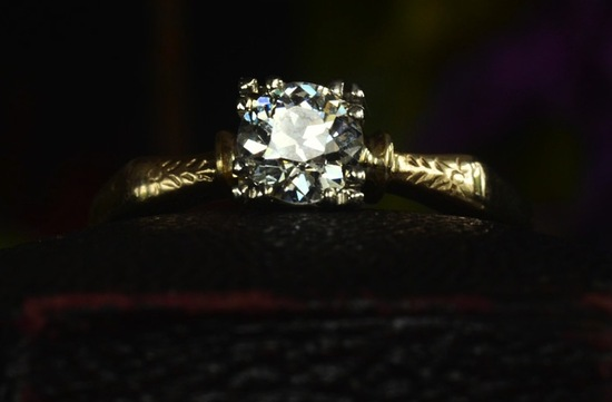 antique engagement rings for vintage brides 1930s 40s art deco transitional cut