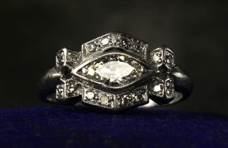 Perfect Antique Engagement Rings For Vintage Brides 1920s Art Deco Marquise