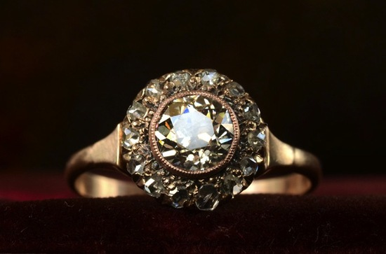 antique engagement rings for vintage brides 1890s victorian rose gold