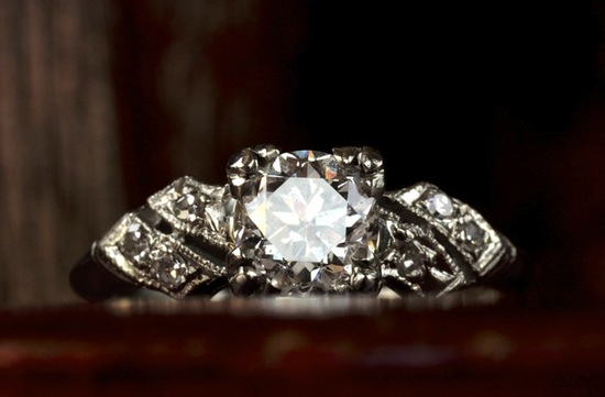 antique engagement rings for vintage brides 1930s art deco single stone