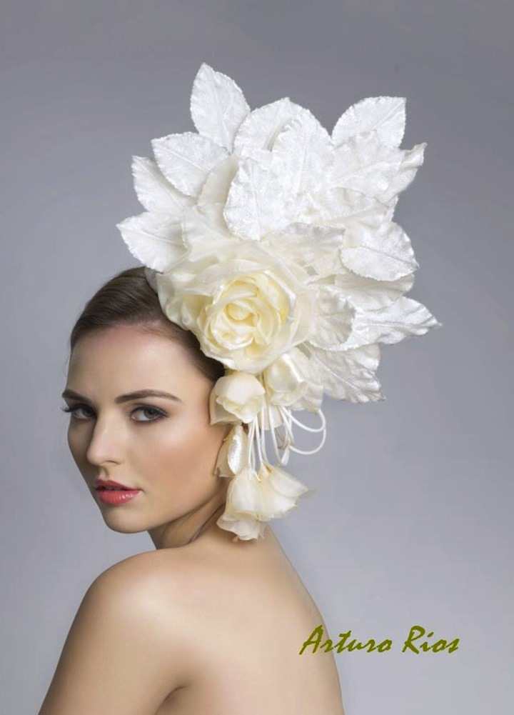 dramatic wedding hat haute couture bridal fascinator
