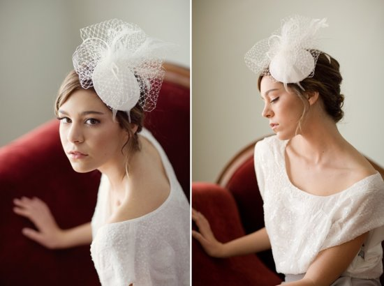vintage inspired wedding accessories bridal hat