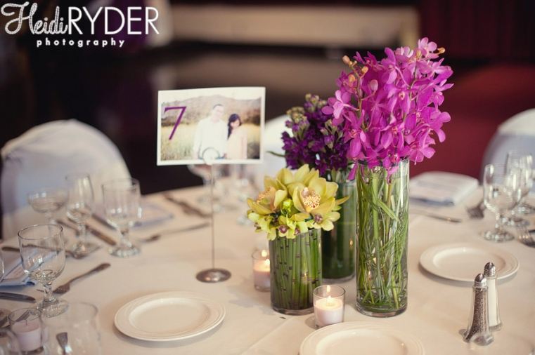 Bamboo Orchids Wedding Centerpieces