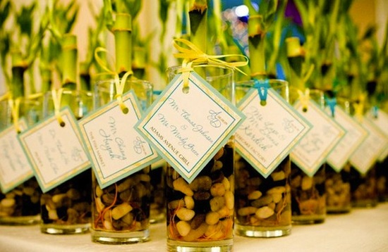 bamboo wedding favors for beach weddings