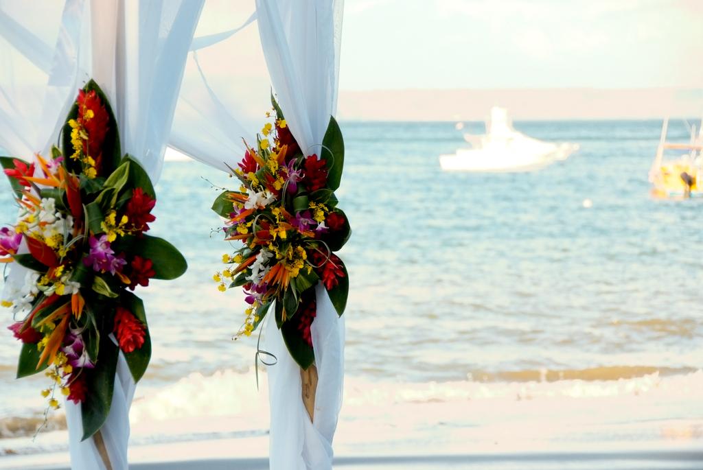 Bamboo Wedding Arbor Tropical Beach Ceremony