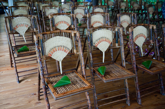 bamboo wedding inspiration ceremony seating