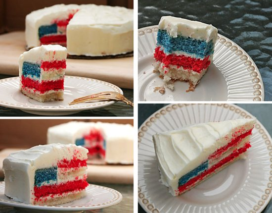 photo of fourth of july wedding cake 2