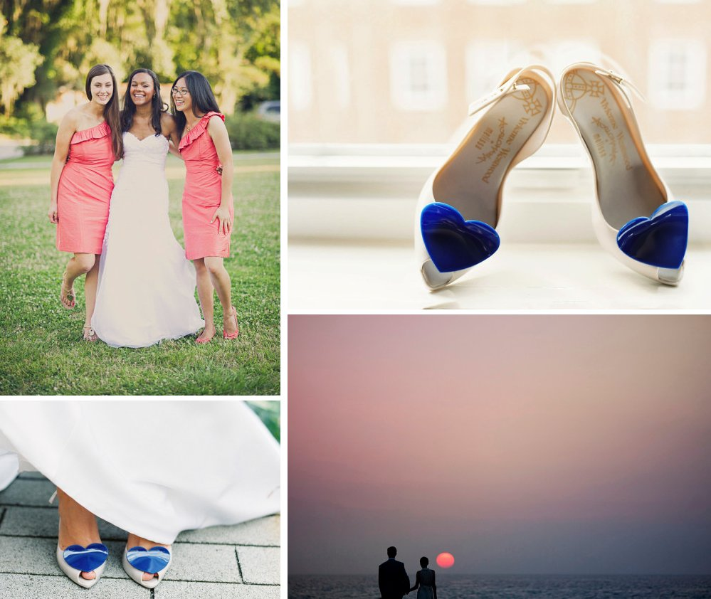 watermelon cobalt blue wedding inspiration
