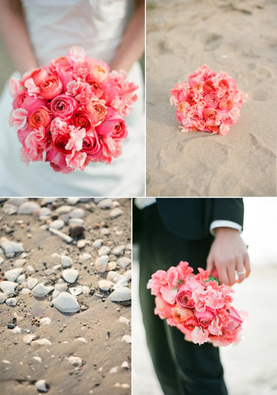 watermelon wedding colors paired with neutrals beach wedding