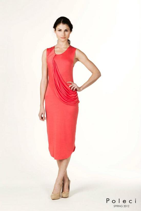 coral bridesmaid dress poleci