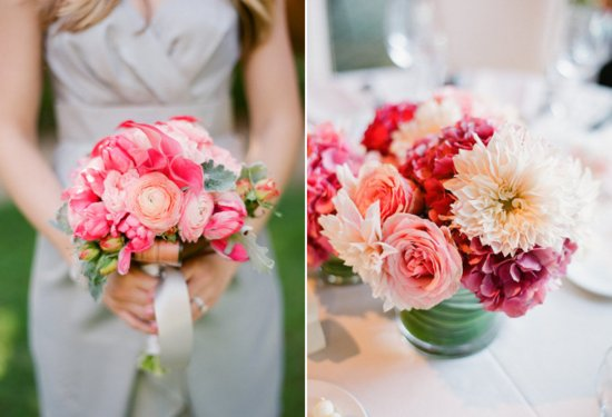 watermelon wedding colors paired with neutrals