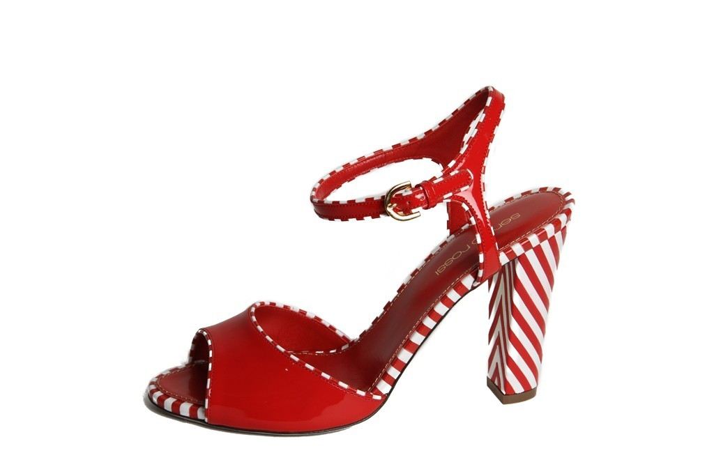 red white wedding shoes sergio rossi