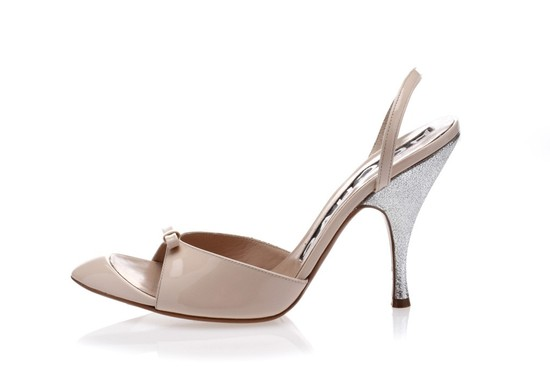 rochas wedding shoes classic blush pink with silver