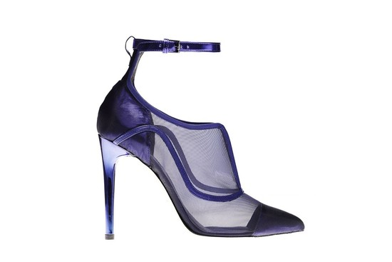 reed krakoff bold wedding shoes purple metallic with sheer