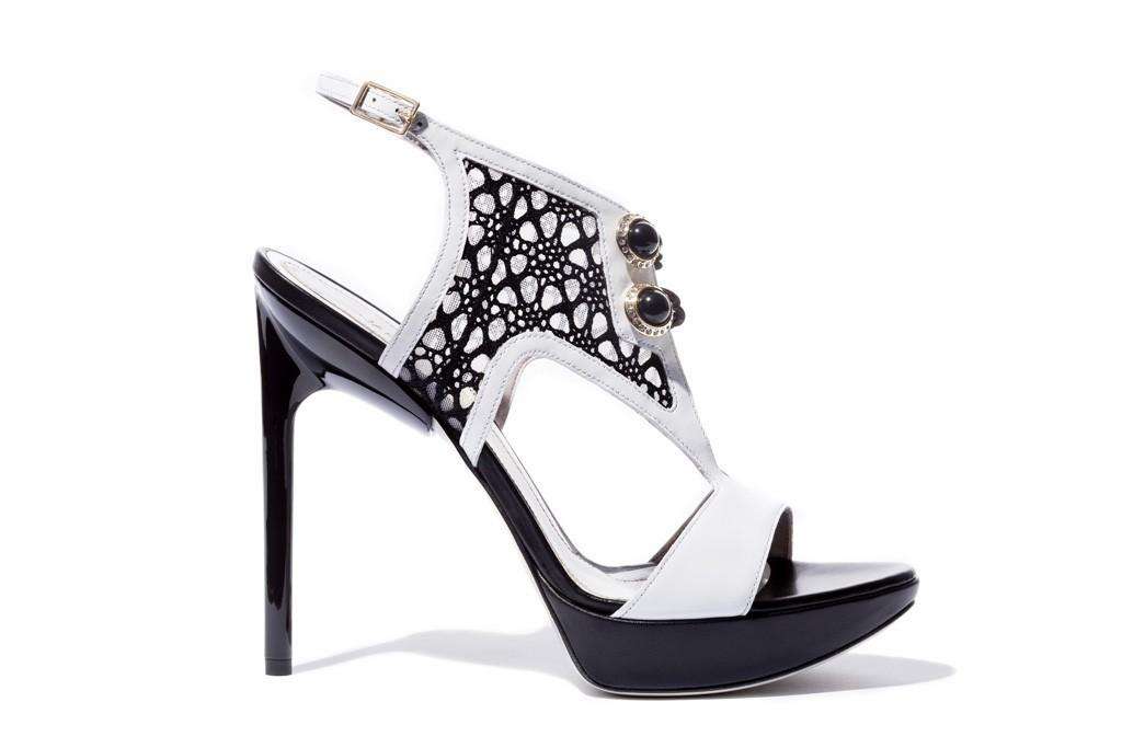 jason wu black white wedding shoes