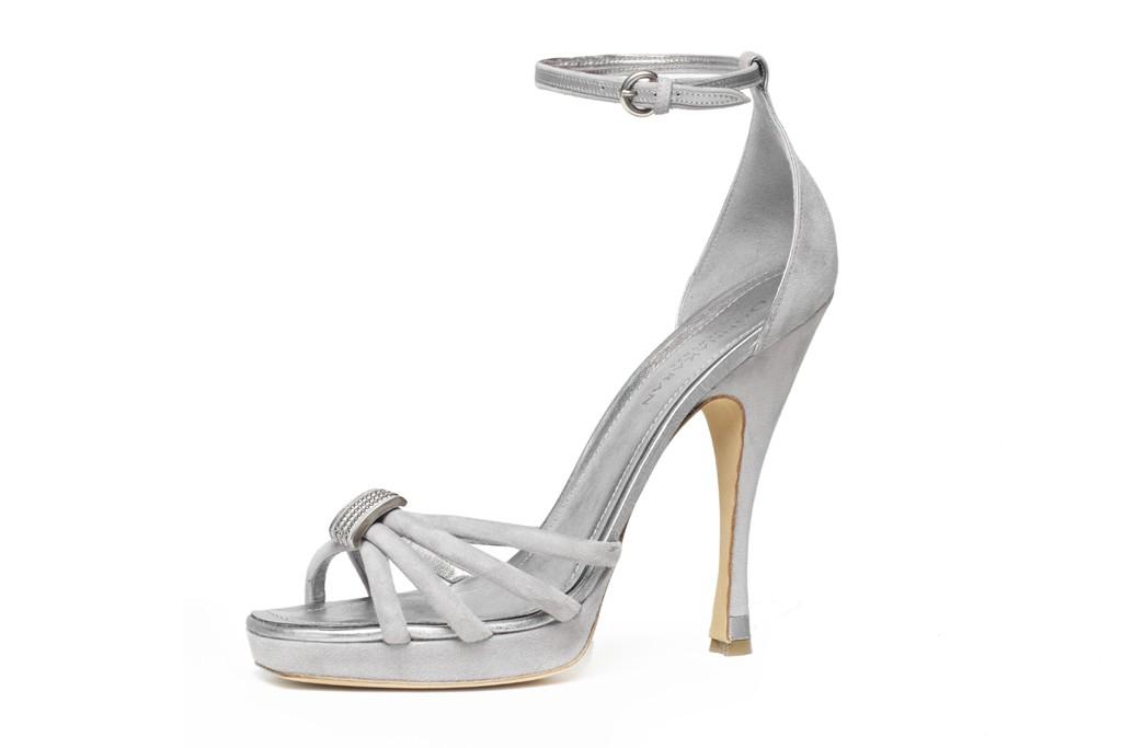Donna Karan Silver Wedding Shoes