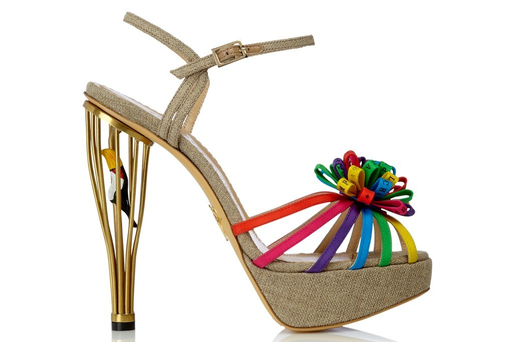 wedding shoes rainbow and gold