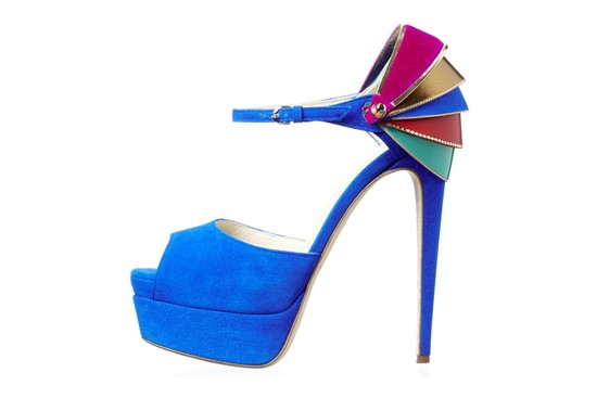 funky blue wedding shoes suede brian atwood