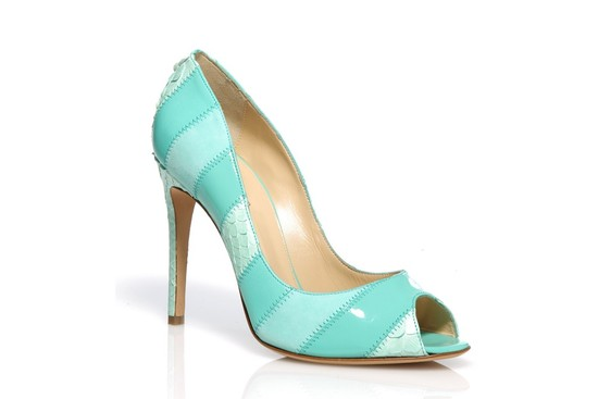 something blue wedding shoes aqua teal 1