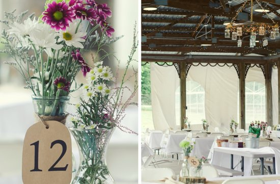 rustic summer wedding mason jar centerpieces