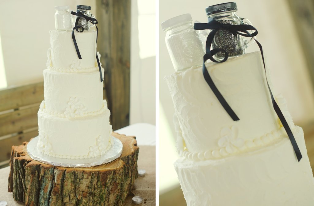 Elegant-rustic-wedding-classic-ivory-wedding-cake-with-cute-cake-topper.full