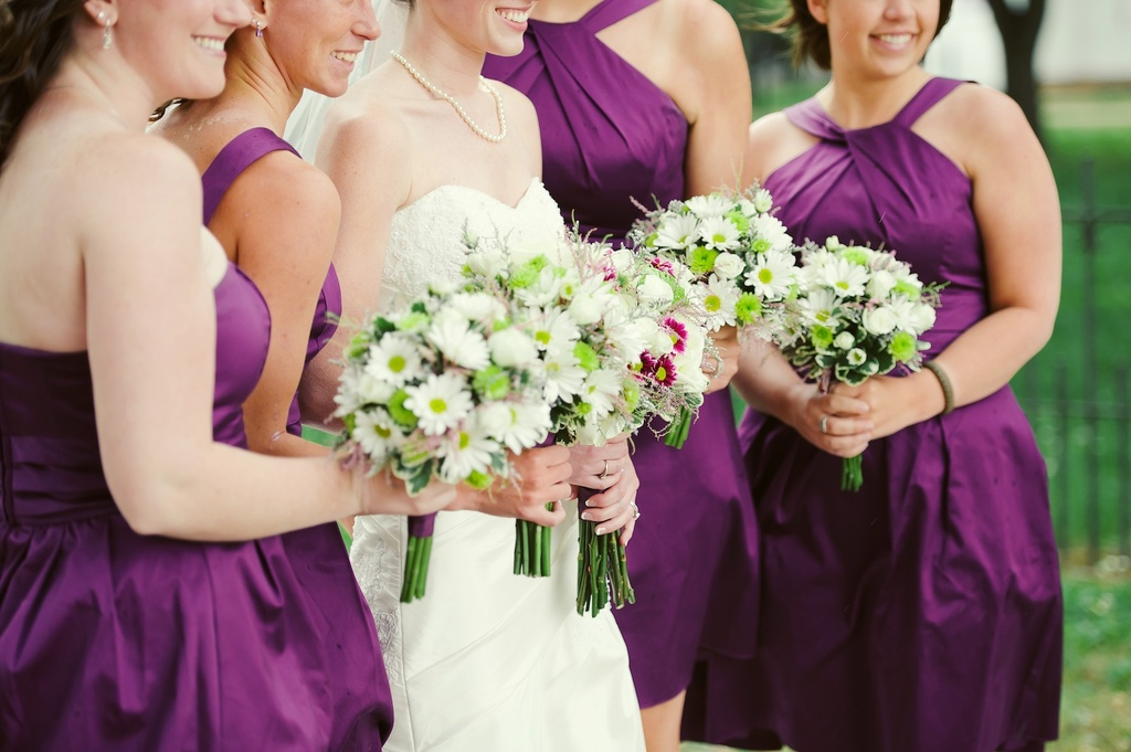 Elegant-rustic-wedding-real-wedding-photos-fuschia-bridesmaids-dresses.full