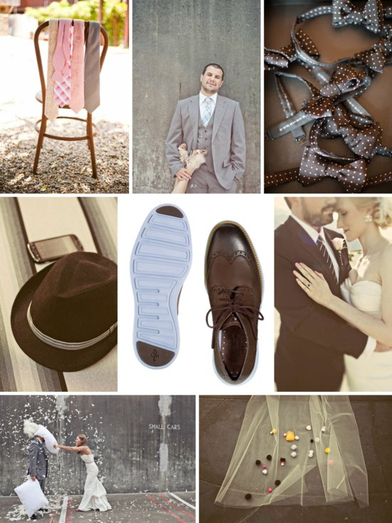 dapper grooms attire Cole Haan Nike shoes