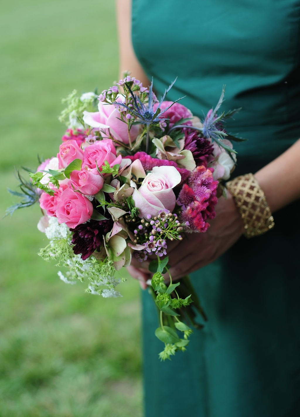 Elegant-southern-wedding-bridesmaid-romantic-bouquet.full