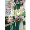Elegant-outdoor-wedding-forest-green-bridesmaid-dresses-colorful-bouquets-2.square