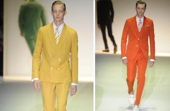 grooms style inspiration 2012 weddings Gucci orange mustard
