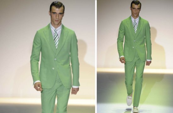 grooms style inspiration 2012 weddings Gucci green suit