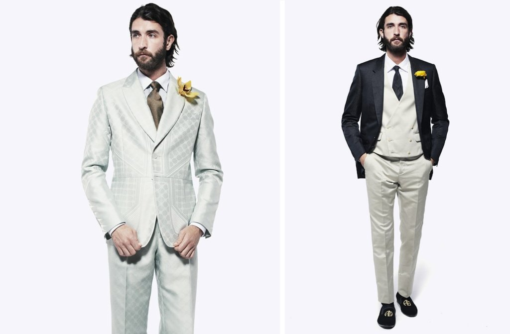 grooms style inspiration 2012 weddings Alexander McQueen gray sage black