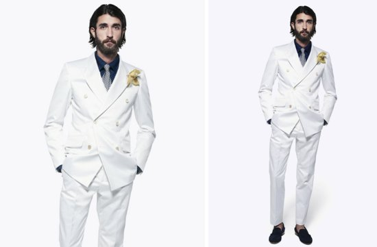 grooms style inspiration 2012 weddings Alexander McQueen all white