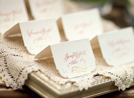 ombre wedding escort cards