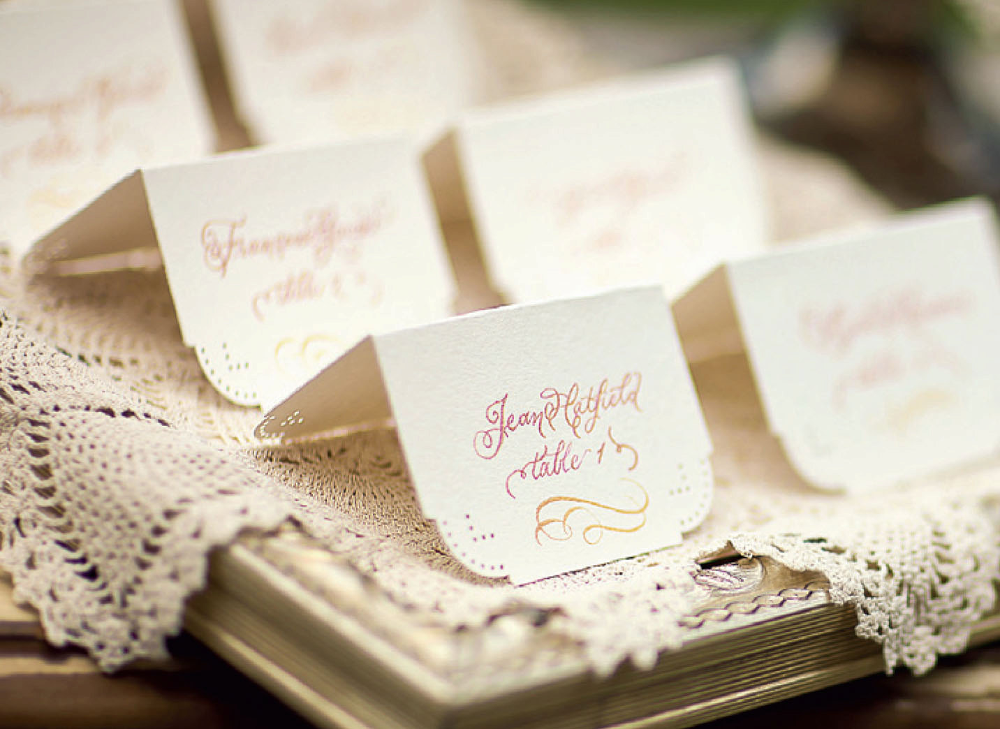Ombre Wedding Escort Cards