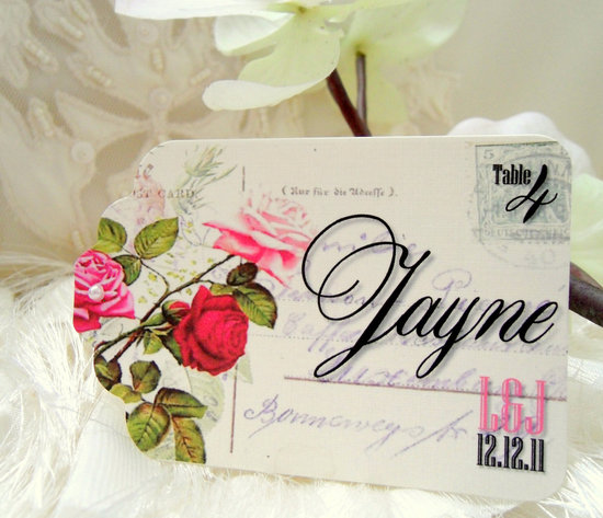 shabby chic wedding escort cards