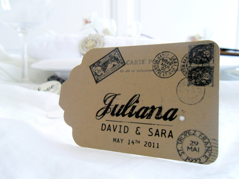 Handmade Wedding Escort Cards Etsy Wedding Stationery Vintage Shabby Chic