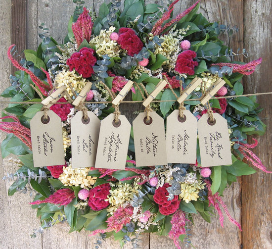 handmade wedding escort cards Etsy wedding stationery vintage natural