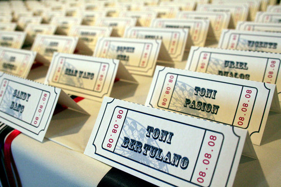 handmade wedding escort cards Etsy wedding stationery vintage carnival