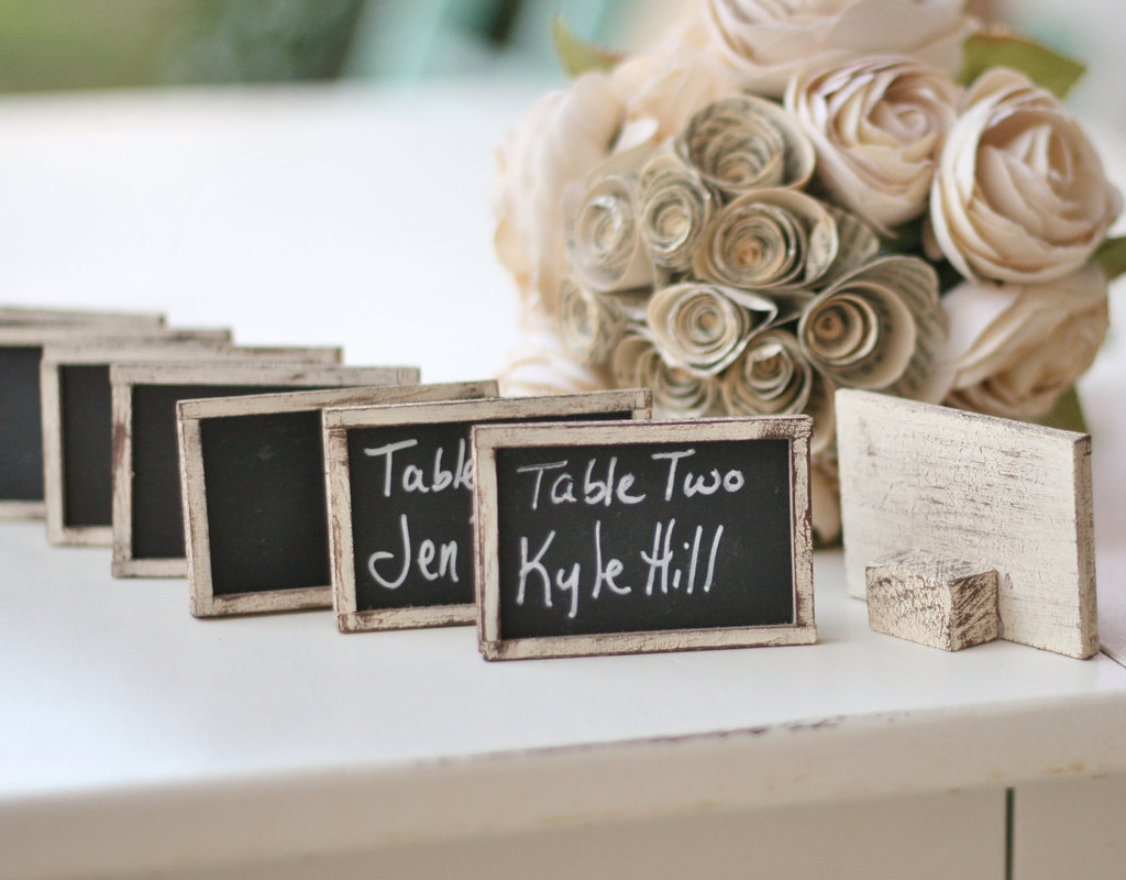 handmade wedding escort cards Etsy wedding stationery chalkboard chic