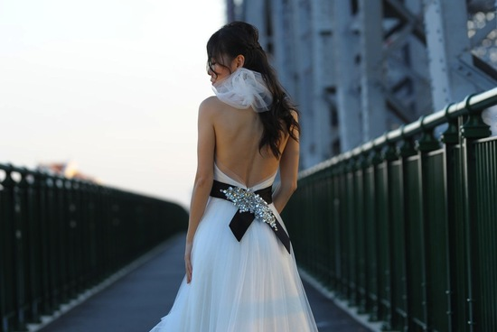halter neckline wedding dress touches of sheer