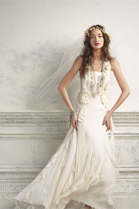 BHLDN bride wedding dresses for anthropologie weddings