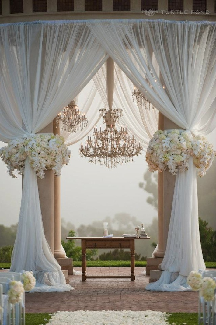 Outdoor wedding ceremony ideas next big bridal blogger for Decorating for outdoor wedding