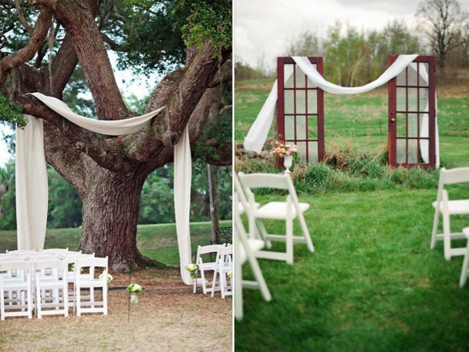 outdoor wedding ceremony seating ideas