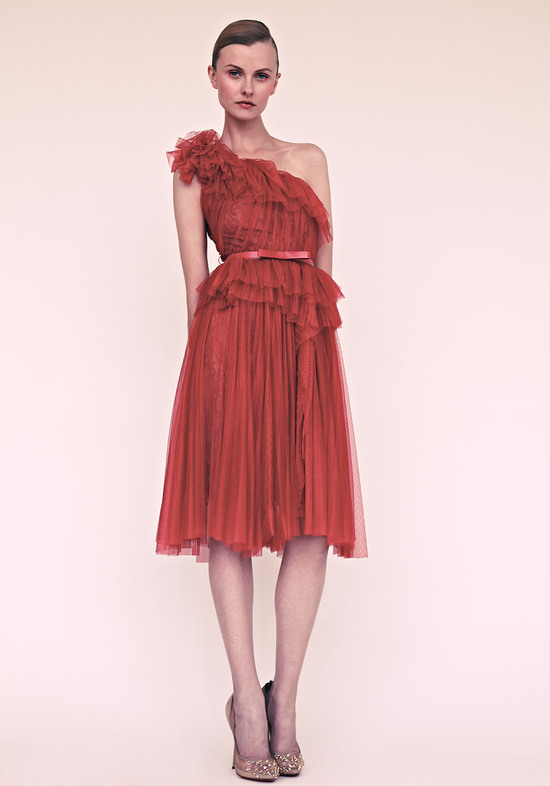 marchesa wedding inspiration bridesmaids dresses for spring summer rusty red