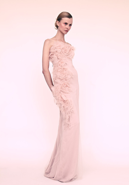 marchesa wedding dress for romantic brides blush pink column