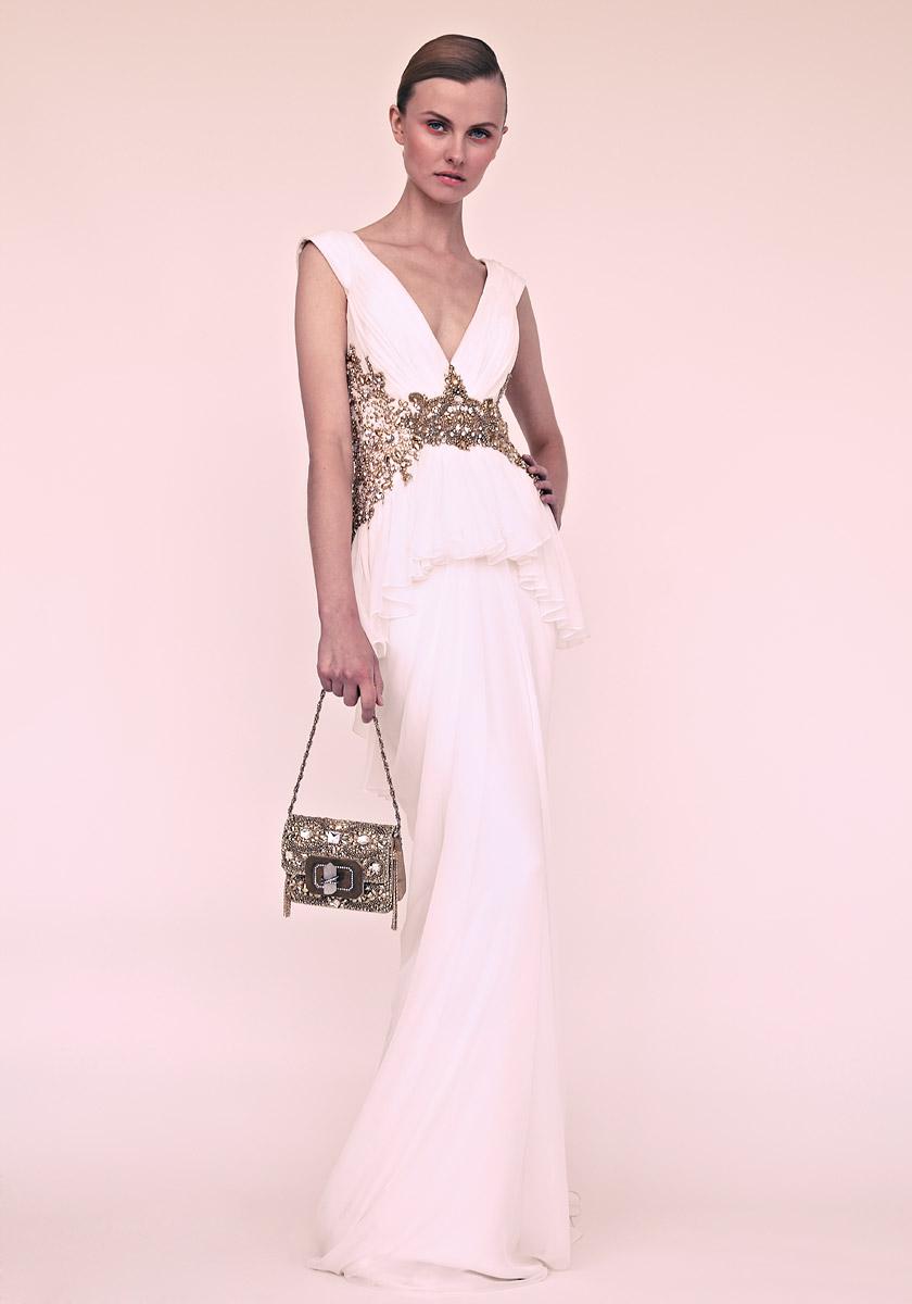 Marchesa White Dress - KD Dress