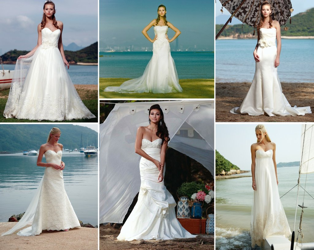 beach bride wedding dresses from Augusta Jones bridal style
