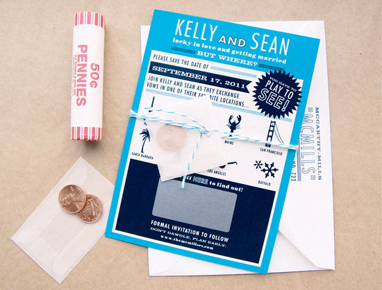 Scratch Off Surprise Wedding Save the Dates destination weddings