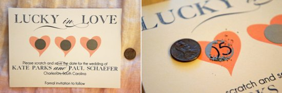 lucky in love wedding save the date